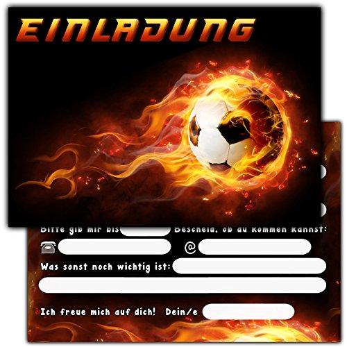 11 Einladungskarten Zum Kindergeburtstag Fussball Geburtstagseinladungen Jungen Madchen Kinder Einladungen Fussballparty Geburtstag Spielzeug