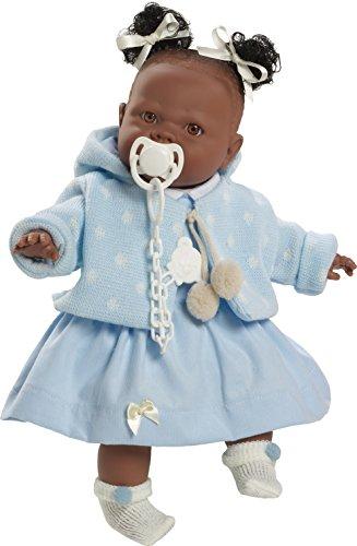 Berbesa 4353a Alicia Puppe 38 Cm Blau Kleidung